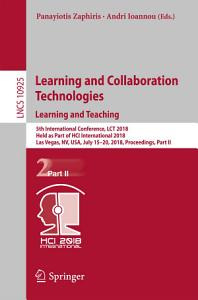 Learning and Collaboration Technologies  Learning and Teaching PDF
