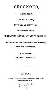 Isabella. A Tragedy. - Oroonoko. A Tragedy. London 1808
