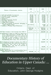 Documentary History of Education in Upper Canada: 1848-1849