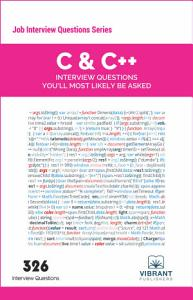 C   C   Interview Questions You ll Most Likely Be Asked Book