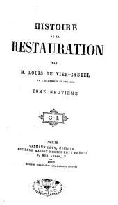 Histoire de la restauration: Volume9