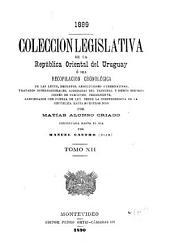 Colección legislativa de la República Oriental del Uruguay: Volumen 12