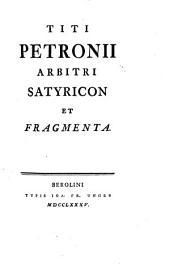 Satyricon et fragmenta
