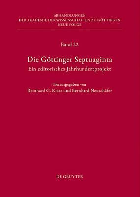 Die G  ttinger Septuaginta PDF