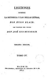 Lecciones sobre la retorica y las bellas letras, 4