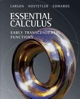 Essential Calculus  Early Transcendental Functions PDF