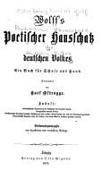 Wolff s poetischer hausschatz des deutschen volkes PDF