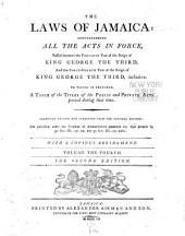 The Laws of Jamaica: 1799-1803