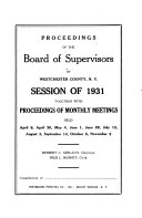 Proceedings of the County Board of Legislators of Westchester County, N.Y.