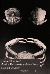 Leland Stanford Junior University publications: University series