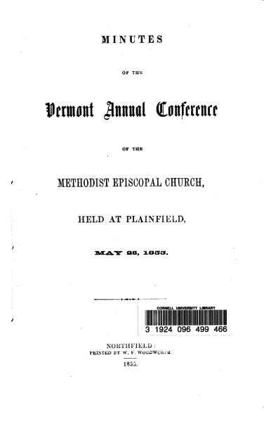 Minutes Of The Vermont Annual Conference