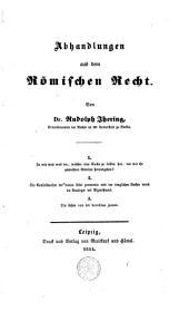 Abhandlungen aus dem römischen Recht