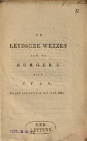 De Leydsche weezen aan de burgerij dier stad, bij den aanvang van het jaar 1821