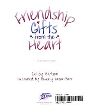 Friendship Gifts from the Heart PDF