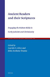 Ancient Readers and their Scriptures Book