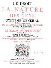 Le droit de la nature et des gens...: ed. 3a, Volume1