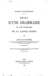 Essai d'une grammaire et d'un vocabulaire de la langue Baniva