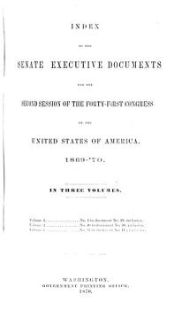 Senate Documents  Otherwise Publ  as Public Documents and Executive Documents PDF