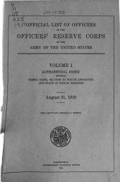 U. S. Army Register: Volumes 1-10