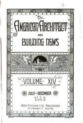 American Architect and Building News: 1883, Volume 14