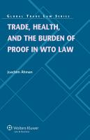 Trade  Health  and the Burden of Proof in WTO Law PDF