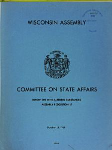 Report on Mind altering Substances Pursuant to Assembly Resolution 17  1969 PDF