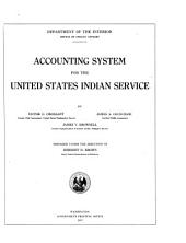 Accounting System for the United States Indian Service