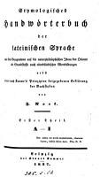 Etymologisches Handw  rterbuch der lateinischen Sprache  von F  Nork PDF