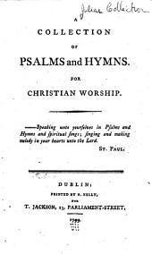 A collection of psalms and hymns. For Christian worship
