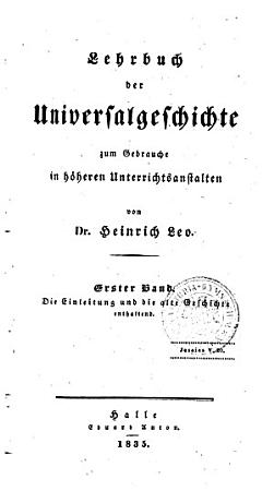 Lehrbuch der universalgeschichte  Bd   Alte geschichte  1849 PDF