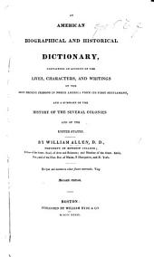 An American Biographical and Historical Dictionary, etc