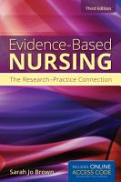 Evidence Based Nursing  The Research Practice Connection PDF