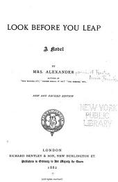 Look Before You Leap: A Novel