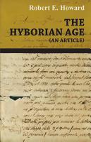The Hyborian Age  An Article  PDF