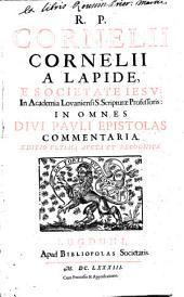 In omnes divi Pauli Epistolas Commentoria