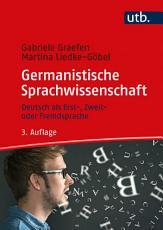 Germanistische Sprachwissenschaft PDF