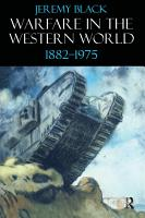 Warfare in the Western World  1882 1975 PDF