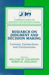 Research on Judgment and Decision Making PDF
