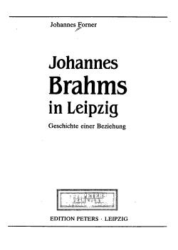 Johannes Brahms in Leipzig PDF
