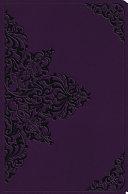 ESV Value Compact Bible  Trutone  Lavender  Filigree Design
