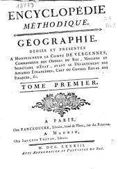 Encyclopédie méthodique: Géographie moderne : tome premier, Volume1,Partie2