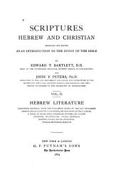 Scriptures Hebrew and Christian: Hebrew literature