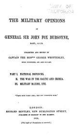 The Military Opinions of General Sir John Fox Burgoyne