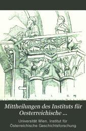 Mittheilungen des Instituts für Oesterreichische Geschichtsforschung: Band 4