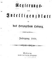 Regierungs- und Intelligenzblatt für das Herzogtum Coburg: 1860