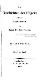 Die geschichten der Ungern und ihrer landsassen ...