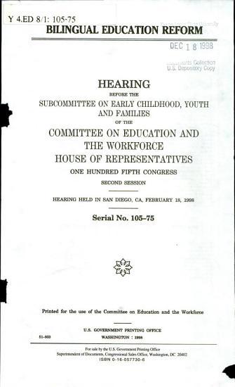Bilingual Education Reform PDF