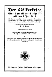 Der Völkerkrieg: eine Chronik der Ereignisse seit dem 1. Juli 1914, Band 23