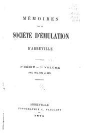Mémoires de la Société d'émulation d'Abbeville