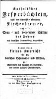 Katholisches Vesperb  chlein0 PDF